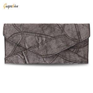 Handbags - Women's Gray Patchwork Triple Fold Wallet